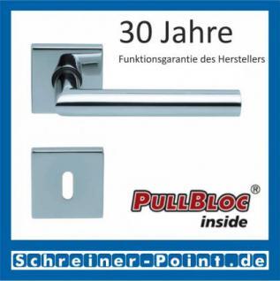 Scoop Thema quadrat PullBloc Quadratrosettengarnitur, Rosette Edelstahl poliert