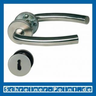 UN-Form Edelstahl Rosettengarnitur auf Metall-Unterrosette
