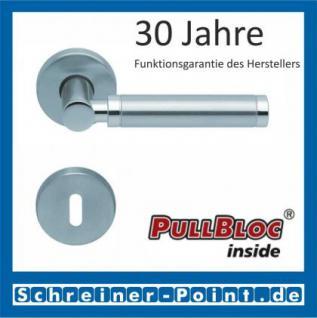 Scoop Ultimo PullBloc Rundrosettengarnitur, Rosette Edelstahl matt