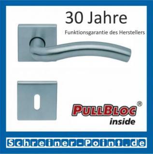 Scoop Wave quadrat PullBloc Quadratrosettengarnitur, Rosette Edelstahl matt