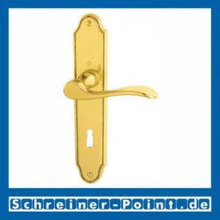 Hoppe Wien Langschild-Garnitur F71 Messing poliert, M123/221I, 3038830, 838523, 3039681, 3041140, 838547, 3039779, 6593727, 3044404, 6593750