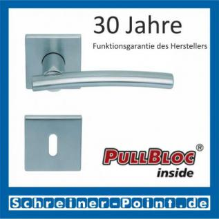 Scoop Wing quadrat PullBloc Quadratrosettengarnitur, Edelstahl poliert/Edelstahl matt, Rosette Edelstahl matt