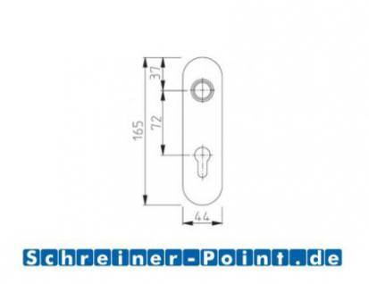 Kurzschildgarnitur L-Form Edelstahl - Vorschau 2