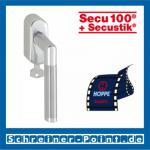 Hoppe Amsterdam Aluminium-Edelstahl Fenstergriff abschließbar F1-F69 Alu Natur - Edelstahl matt Secu100 + Secustik 1400/US950S (100 Nm), 2547691, 2547704
