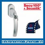 Hoppe Atlanta Aluminium Fenstergriff abschließbar F1 Natur Secu100 + Secustik 0530S/US952 (100 Nm), 2257926, 2257969, 2258005