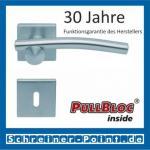 Scoop Diago quadrat PullBloc Quadratrosettengarnitur, Rosette Edelstahl matt