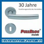 Scoop Geo PullBloc Rundrosettengarnitur, Rosette Edelstahl matt