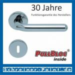 Scoop Image II PullBloc Rundrosettengarnitur, Rosette Edelstahl poliert