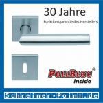 Scoop Jade I quadrat PullBloc Quadratrosettengarnitur, Rosette Edelstahl matt