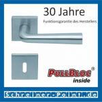 Scoop Jericho quadrat PullBloc Quadratrosettengarnitur, Rosette Edelstahl matt