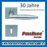 Scoop Optima quadrat PullBloc Quadratrosettengarnitur, Edelstahl poliert/Edelstahl matt, Rosette Edelstahl matt