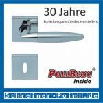 Scoop Optima quadrat PullBloc Quadratrosettengarnitur, Edelstahl poliert/Edelstahl matt, Rosette Edelstahl poliert