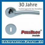 Scoop Rocket II PullBloc Rundrosettengarnitur, Edelstahl poliert/Edelstahl matt, Rosette Edelstahl poliert