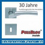 Scoop Rocket II quadrat PullBloc Quadratrosettengarnitur, Edelstahl poliert/Edelstahl matt, Rosette Edelstahl matt