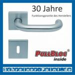 Scoop Ronda quadrat PullBloc Quadratrosettengarnitur, Rosette Edelstahl matt