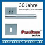 Scoop Roxy II quadrat PullBloc Quadratrosettengarnitur, Rosette Edelstahl matt