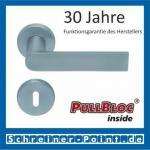 Scoop Semi PullBloc Rundrosettengarnitur Rosette Edelstahl matt