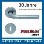 Scoop Tanja PullBloc Rundrosettengarnitur, Edelstahl poliert/Edelstahl matt, Rosette Edelstahl matt