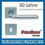Scoop Tanja quadrat PullBloc Quadratrosettengarnitur, Edelstahl poliert/Edelstahl matt, Rosette Edelstahl matt