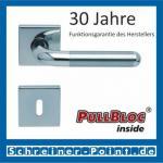 Scoop Tanja quadrat PullBloc Quadratrosettengarnitur, Edelstahl poliert/Edelstahl matt, Rosette Edelstahl poliert