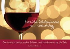 Geburtstagskarte Herzliche Glückwünsche zum.. (6 Stck)