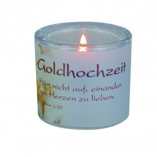 Glaswindlicht Goldhochzeit, Petrus 1, 22