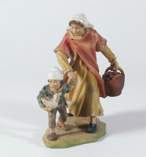 Krippenfigur Frau mit Kind und Korb Gelderland-Krippe