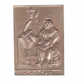 Namenstag Christian 8 x 6 cm Bronzeplakette