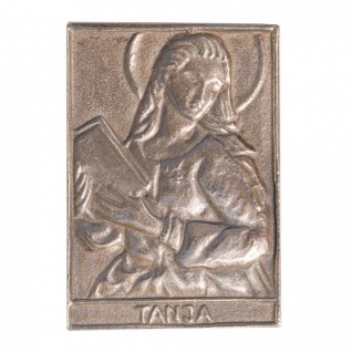 Namenstag Tanja 8 x 6 cm Bronzeplakette
