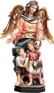 Schutzengel mit 2 Kindern Holz, geschnitzt handbemalt