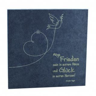Wandrelief Haussegen mit irischem Segen 14, 5 x 14, 5 cm