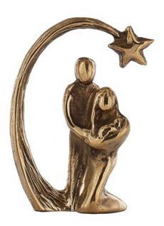 Bronzeminiatur Heilige Familie 4 x 3 cm