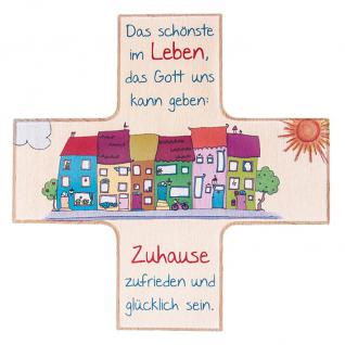 Kinderkreuz Haussegen Buchenholz 12 cm