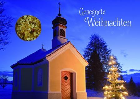 weihnachtskarte mit weihrauch gesegnete 5 stck kaufen bei j ger graf gbr