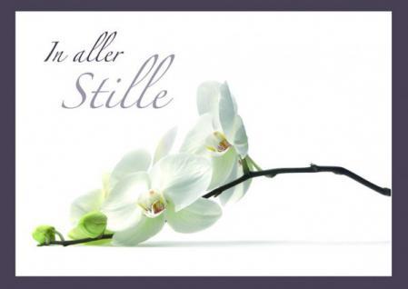 Trauerkarte In aller Stille (6 Stck)