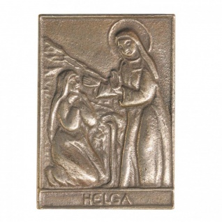 Namenstag Helga 8 x 6 cm Bronzeplakette