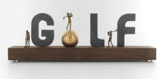 Golf Geschenk aus Schiefer 34 x 11 x 6 cm