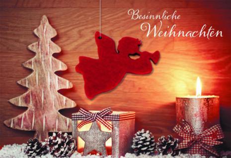 Weihnachtskarte mit Filzanhänger Besinnliche Weihnachten (5 Stck)