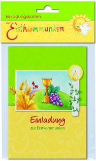 Einladungskarten 6 Doppelkarten zur Erstkommunion