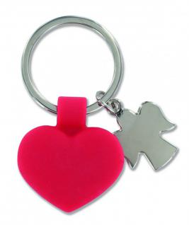 Schlüsselanhänger rotes Herz, Schutzengel