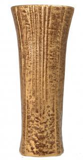 Grabvase mit Blumenverteiler messingfarben 27 cm