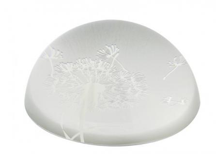 Briefbeschwerer Pusteblume, Kristallglas 3, 8 cm sandgestrahlt
