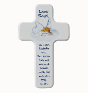 Kinderkreuz Lieber Engel, Holz 18 x 11 cm