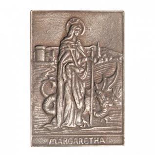 Namenstag Margaretha 8 x 6 cm Bronzeplakette