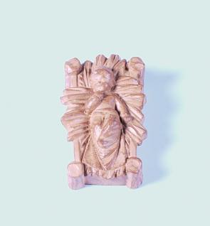 Tiroler Krippe Kind mit Barren Holzton hell 12 cm
