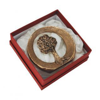 Steh-Plakette Lebensbaum Ø 8 cm Bronze, Box