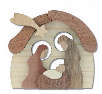 Weihnachtskrippe Mini-Krippe aus Holz 7, 5 cm