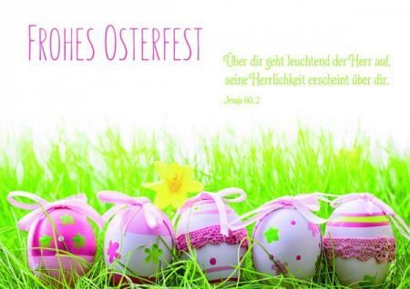 Postkarte zu Ostern Frohes Osterfest (10 Stck)