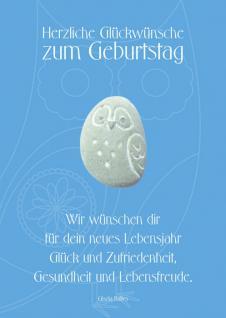 Geburtstagskarte mit Stein, Herzliche... (3 Stck)