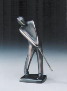 Bronzeskulptur Golfspieler chippend 19 cm